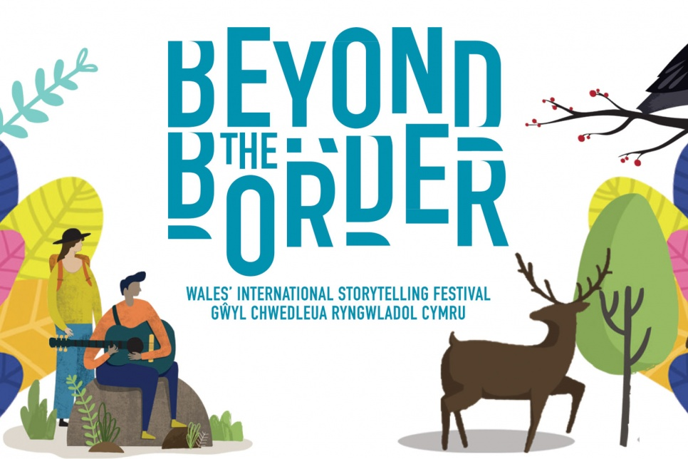 Beyond the Border poster showing text and illustration